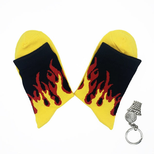Fire Flame Blaze Socks