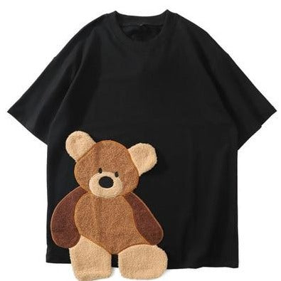 Harajuku Embroidery Bear Tee