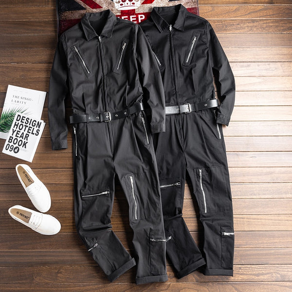 luxury cargo jumpsuits with belt