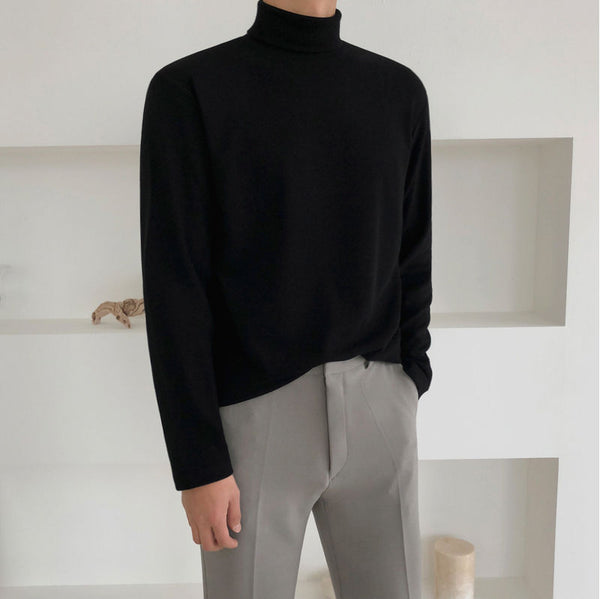 Black Turtleneck Pullover