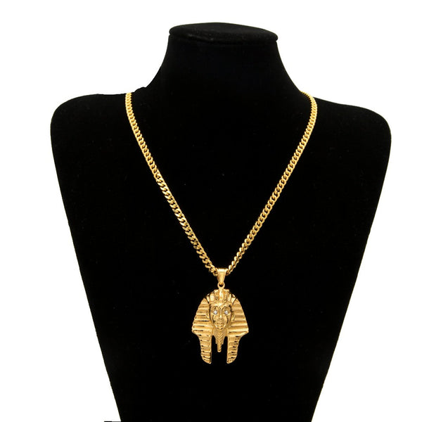 Pharaoh King Pendant Ancient Style Chain - limetliss