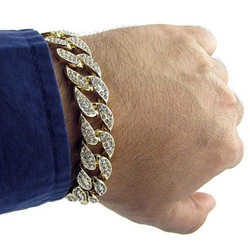 Men's Luxury Crystal Bracelet - limetliss