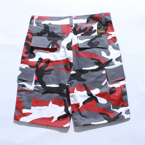 cargo camouflage tactical shorts - limetliss