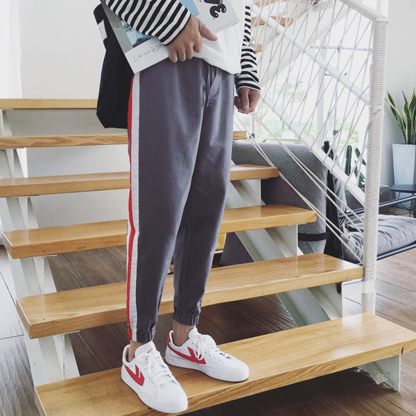 men's poland striped style track pants - limetliss