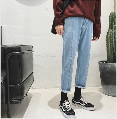Autumn Naked Stitch Denim Slacks - limetliss