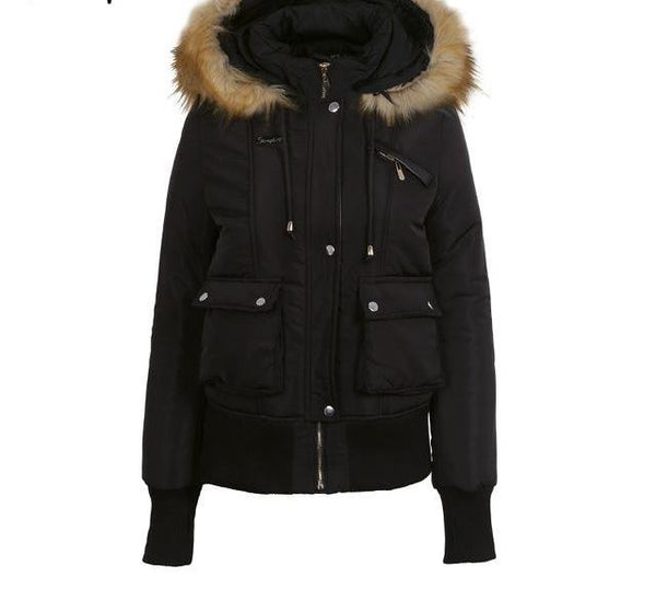 ladies militant fur parka jacket - limetliss