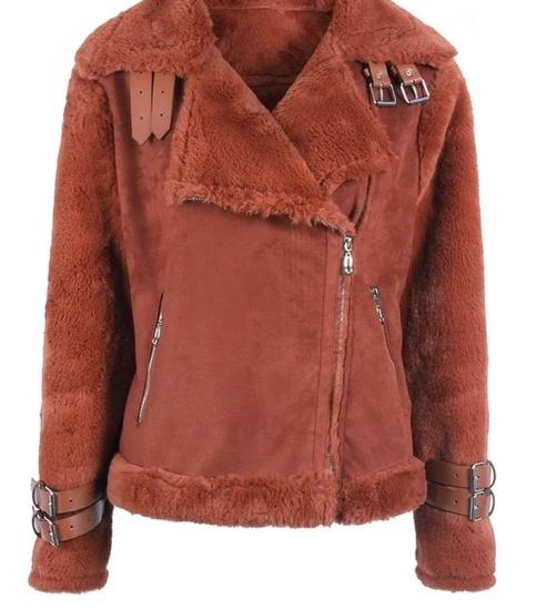 suede lamb ladies shearling jacket - limetliss