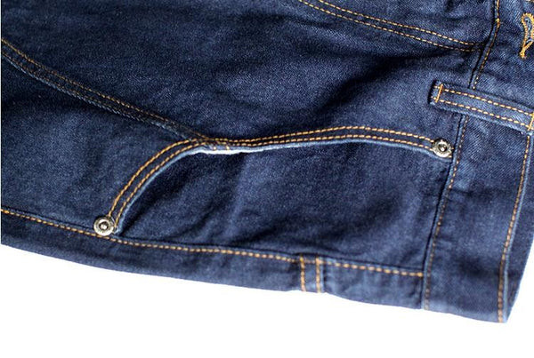 Blank Navy Stitched Denim Jeans - limetliss