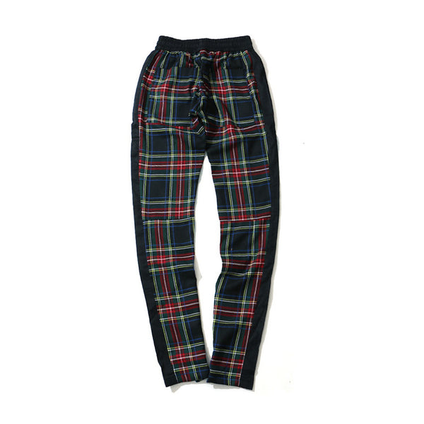 Future Plaid Flannel Zip Joggers - limetliss