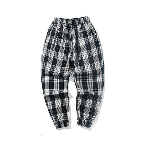 Seoul Smooth Plaid LUX Joggers - limetliss
