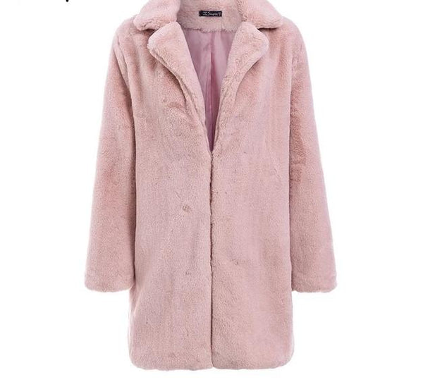 plush ladies teddy overcoat - limetliss