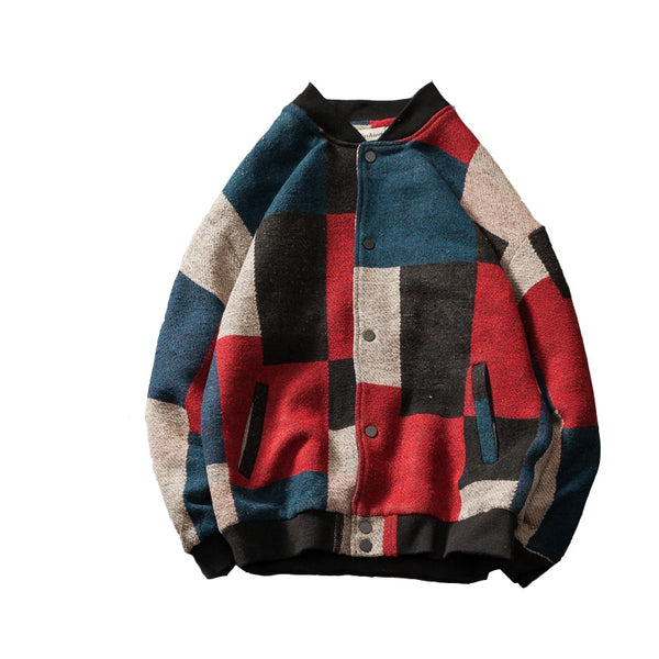 Wool Patched Varsity Jacket - limetliss