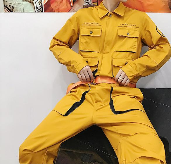 Quad High Street Cargo Jumpsuit - limetliss