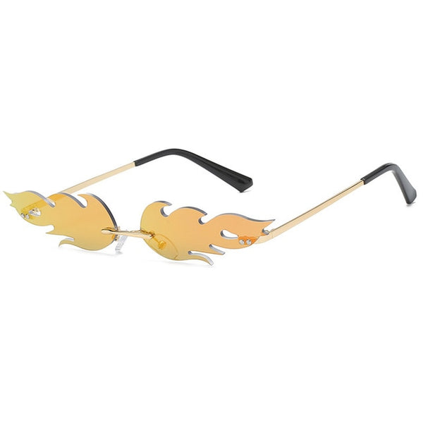 Fire Flame Luxury Rimless Sunglasses