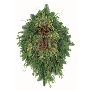 "Woodland Fantasy Swag - 36"" in. by Oregon Holiday Wreaths"