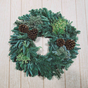 Fresh Christmas Wreath - Willamette Green Wreath