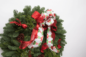 "Mt. Hood Deluxe Holiday Christmas Wreath-24"" in. - Handmade Portland Oregon Holiday Wreath"