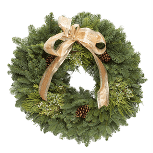 The Traditional Wreath - Gold Satin