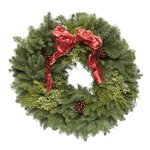 The Traditional Wreath - Red