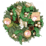welcome home wreath - holiday and christmas wreath