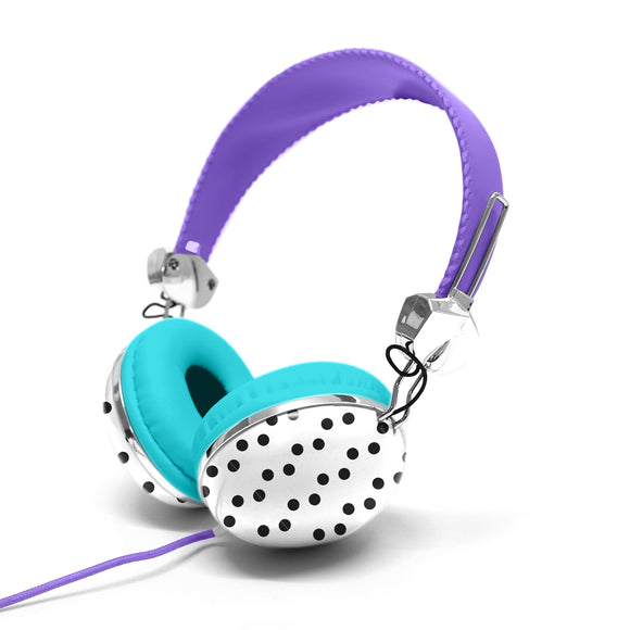 Headphone with Carry Case Purple