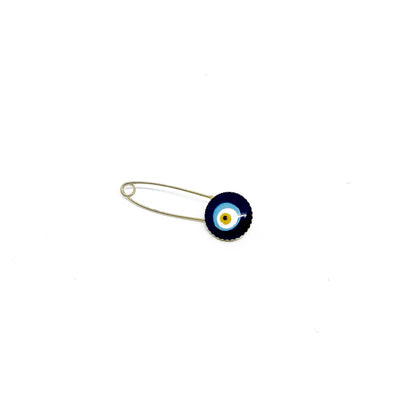 Safety Pin with Evil Eye