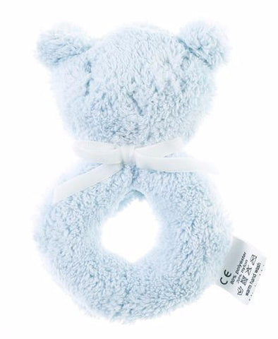 Britt Bear Snuggles Rattle Blue