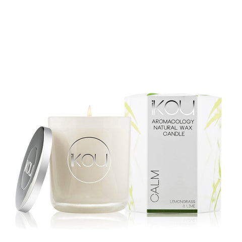 Ikou Eco Luxury Glass Spa Candle Calm