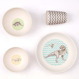 Love Mae Bamboo Dinnerset 4 Pieces T-rex Supper