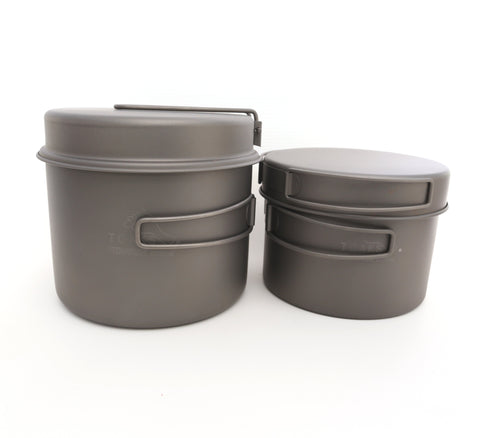 TOAKS Titanium 1600ml Pot with Pan / 1300ml Pot with Pan Combo Set