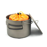 TOAKS Titanium 1600ml Pot with Bail Handle and Wood Stove Combo Set
