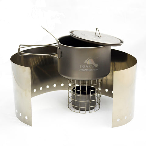 TOAKS Titanium Alcohol Stove Cook System with 700ml Pot