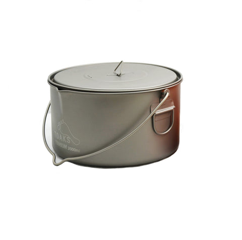 TOAKS Titanium 2000ml Pot with Bail Handle
