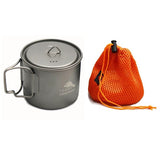 TOAKS LIGHT Titanium 550ml Pot comes with a mesh sack