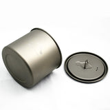 TOAKS LIGHT Titanium 550ml Pot without Handle comes with a lid  with lockable grip