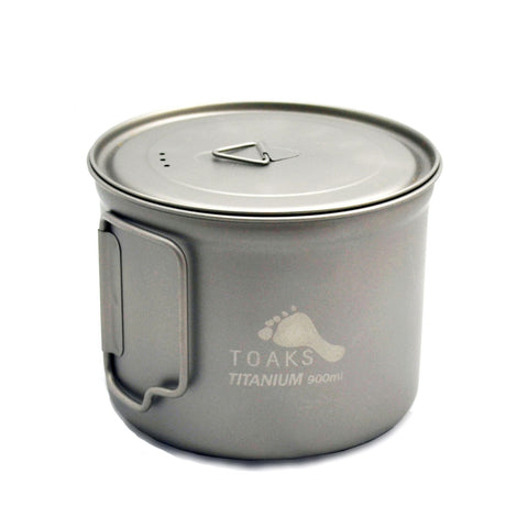 TOAKS Titanium 900ml D115mm Pot (short handles)