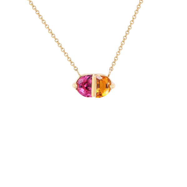 Pink Tourmaline and Citrine Pendant