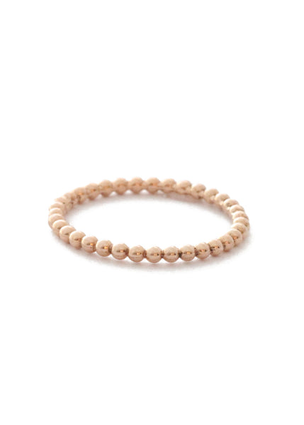Rose Gold Beaded Ring