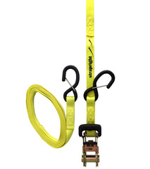 Heavy Duty Ratchet Tie Down with Soft Loop - 14 Foot, 2 Pack