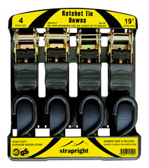 Ratchet Tie Down Straps - 20 Foot, 4 Pack