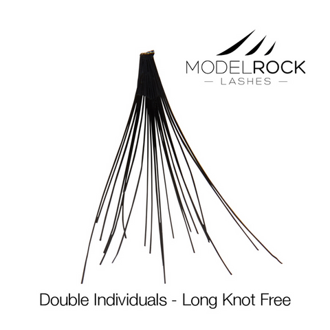 MODELROCK LASHES Double Style Individual Lashes - Long Knot-Free
