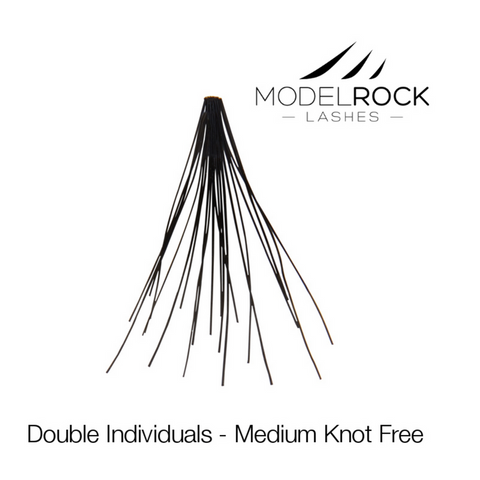 MODELROCK LASHES Double Style Individual Lashes - Medium Knot-Free