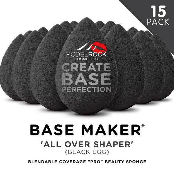 Modelrock Base Maker® Beauty Sponge - 'ALL OVER SHAPER' (Black Egg) - 15 BULK PACK