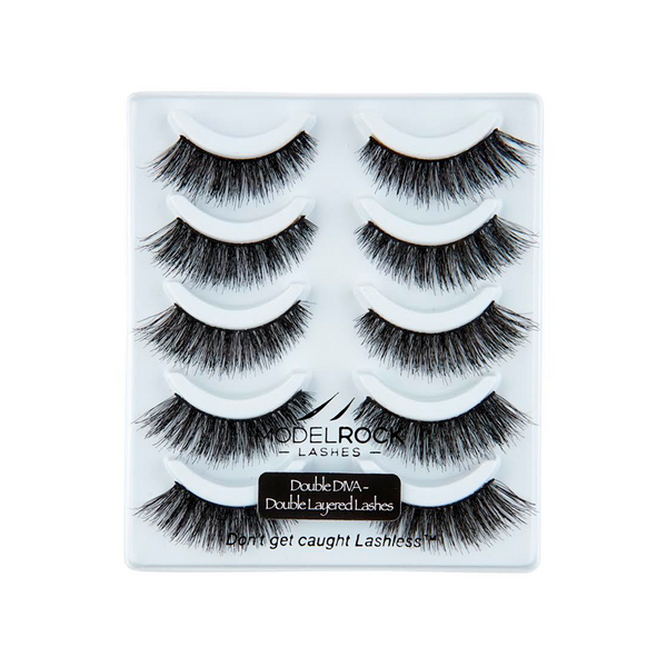 MODELROCK Double DIVA - Double Layered - 5 pair Lash Pack