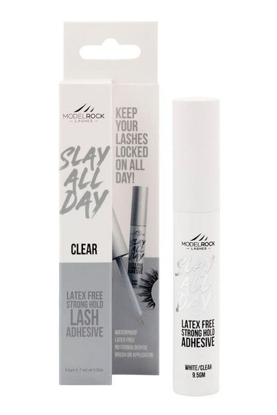 MODELROCK - Lash Adhesive 9.5gm Waterproof *SUPER-STRONG* - *CLEAR* Latex Free - with brush-on applicator