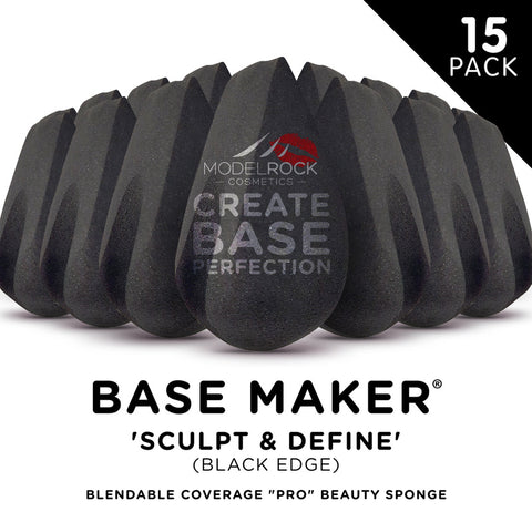 Modelrock Base Maker- 'Sculpt & Define' Sponge (Black edge) 15 pack