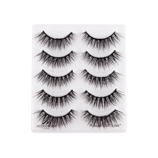 Russian Doll 'Lites' - Double Layered Lashes - 5 pair Lash Pack
