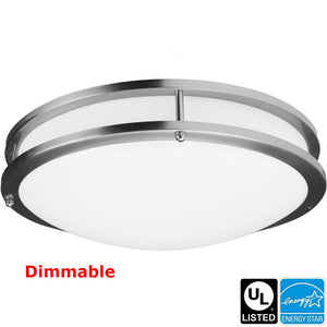 "HISUN LED Dimmable LED Flush Mount Celling Light 10"" 15W  1120LM 3000K"
