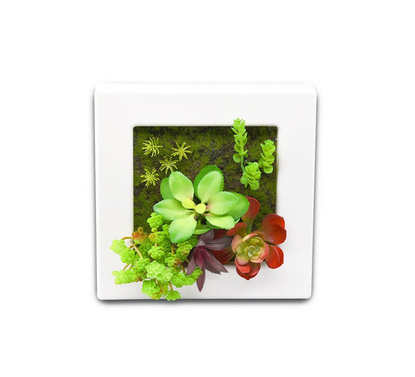 3D Wall Hanging Decoration Artificial Flowers Plants Pot Plastic Planter