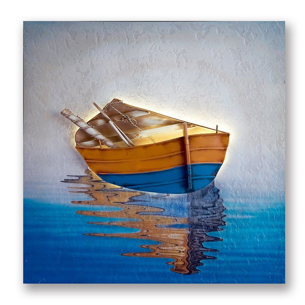 Handmade 3D Boat Painting Wall Art Of Home Decorations